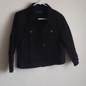 BCBGMAXAZRIA Denim black jacket